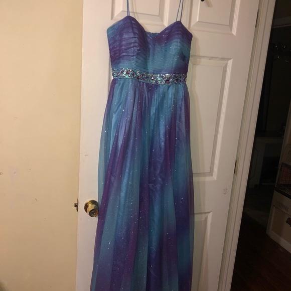 3a0d235fa21 Dresses | Galaxy Glittery Prom Dress | Poshmark